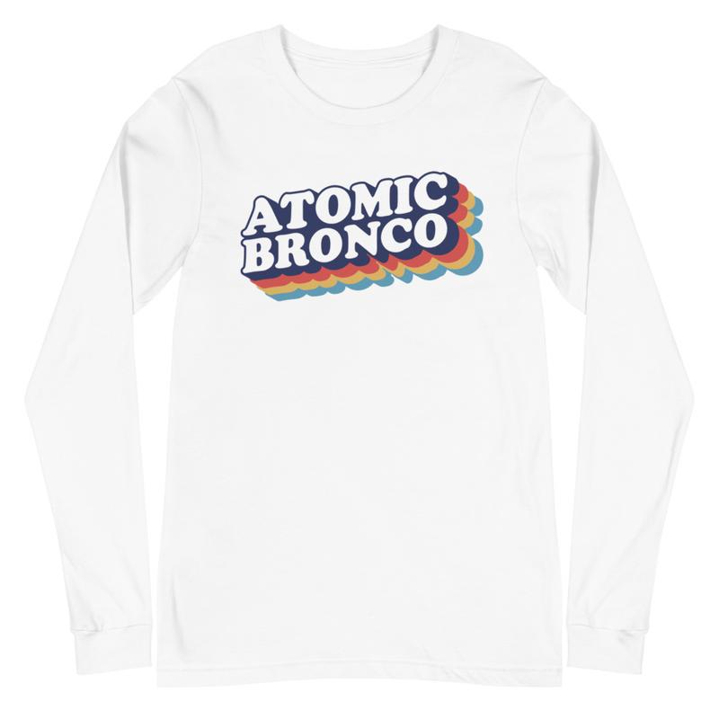 Atomic Bronco Color Logo V-Neck Long Sleeve Tee