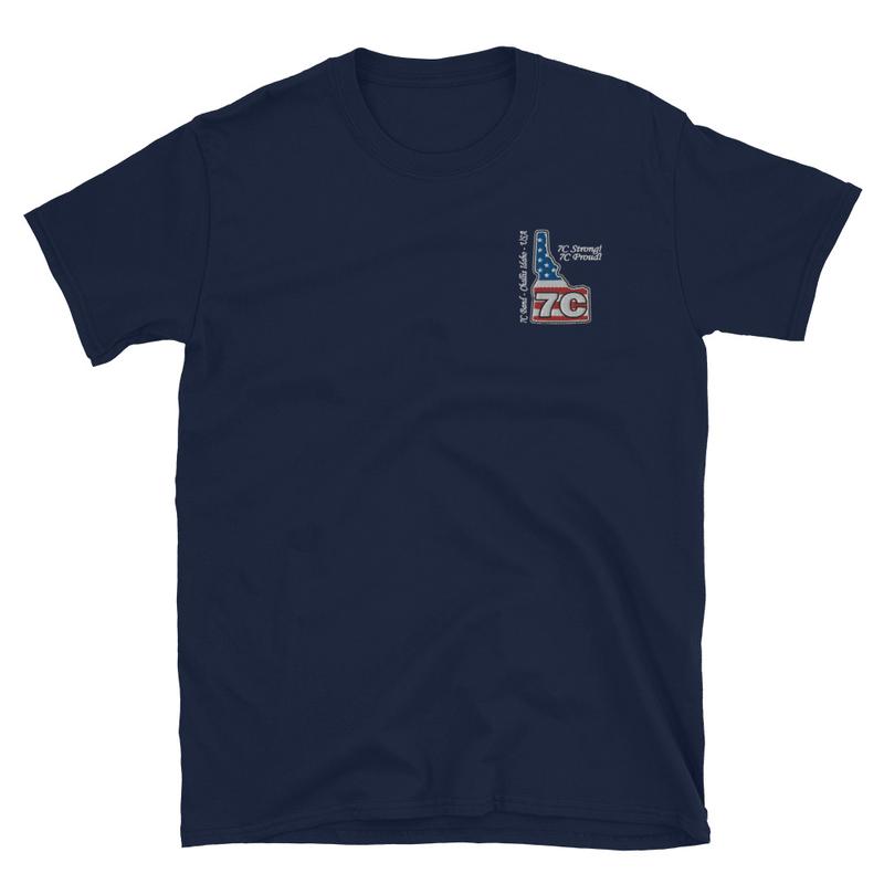 7C Band Embroidered Short-Sleeve Unisex T-Shirt