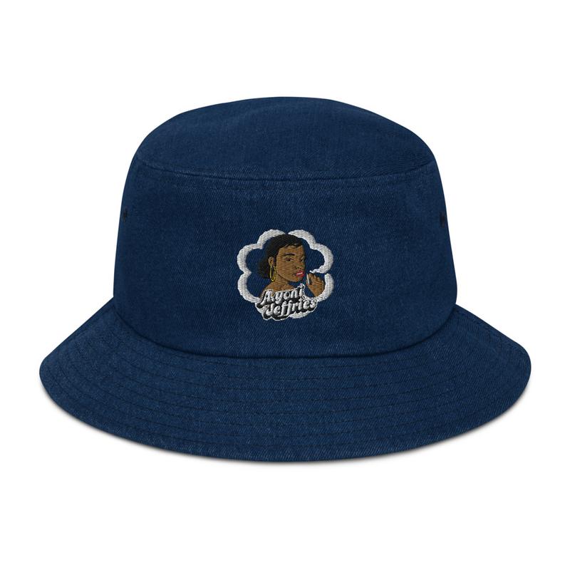 AJ Smoke Flower Denim Bucket Hat