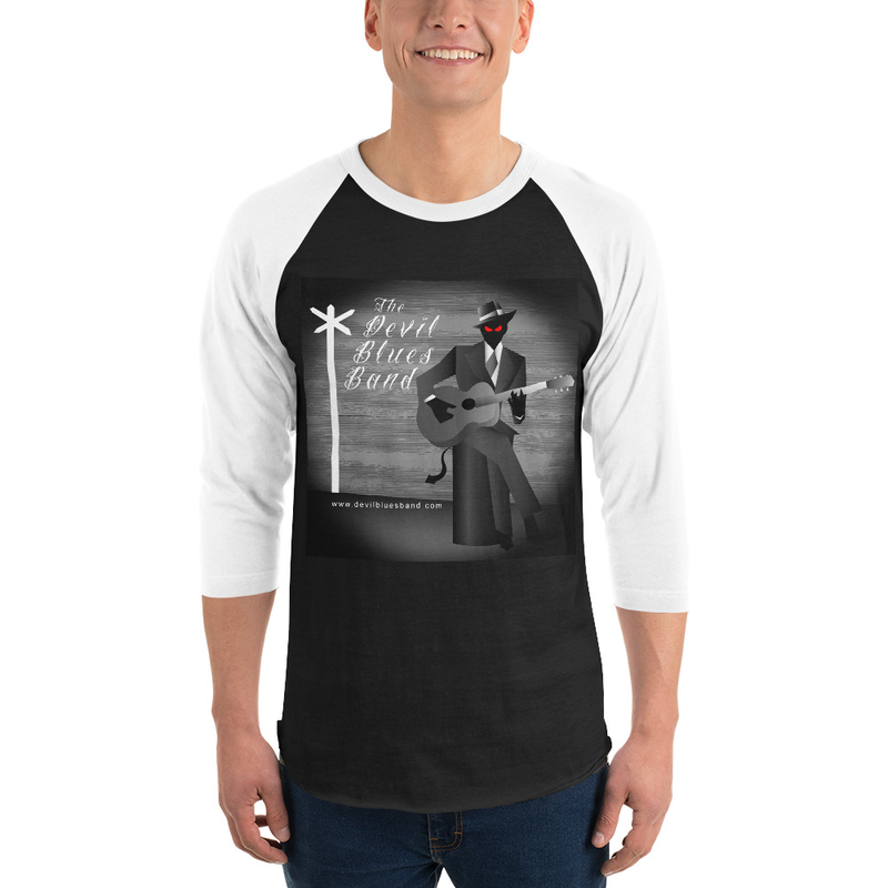 Bluesman 3/4 sleeve raglan shirt