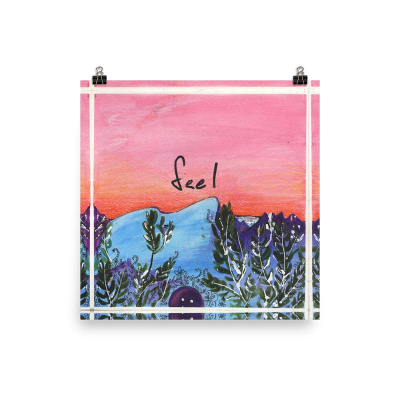 Feel - Square Album Art Poster