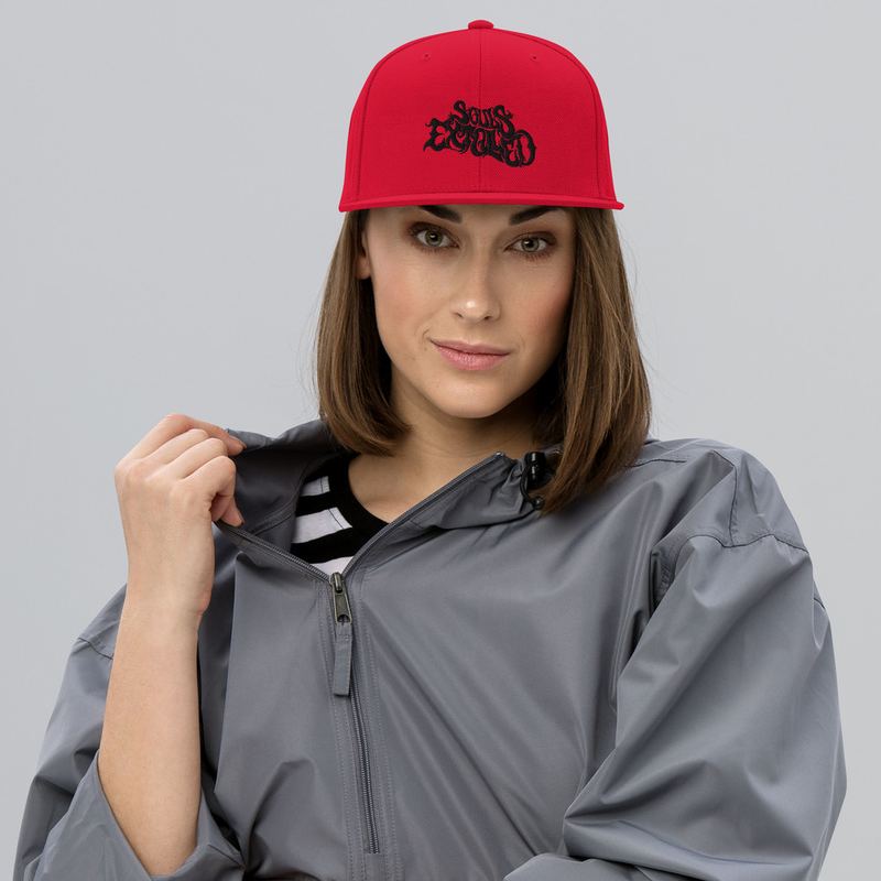 Souls Extolled Flat Bill Hat - Black on Red