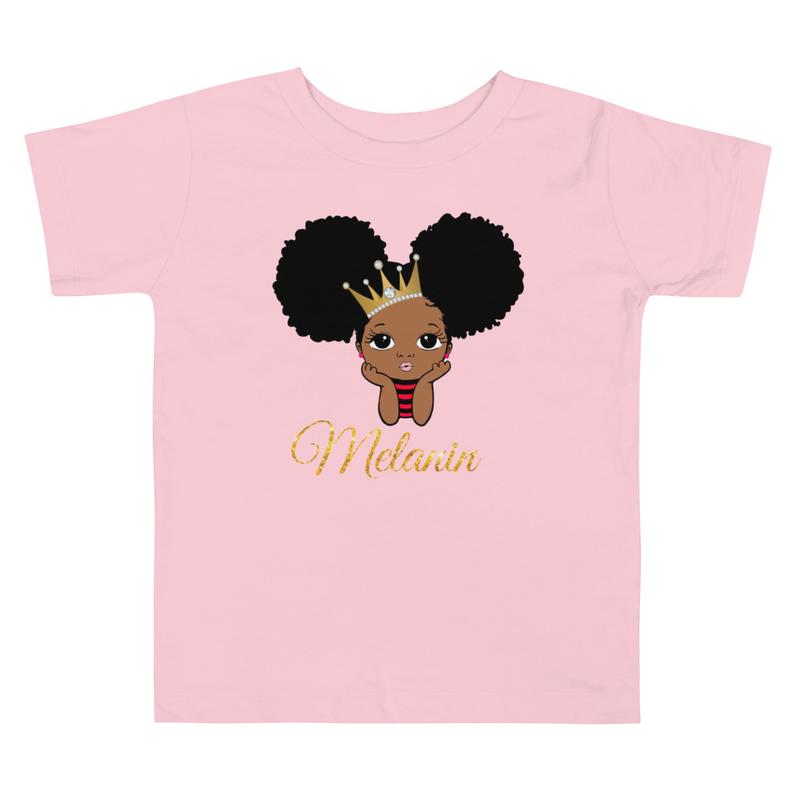 Princess Melanin Toddler Short Sleeve Tee