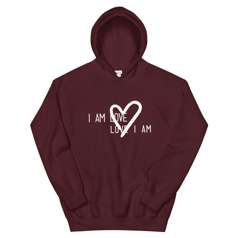 I AM LOVE Hoodies (Unisex)