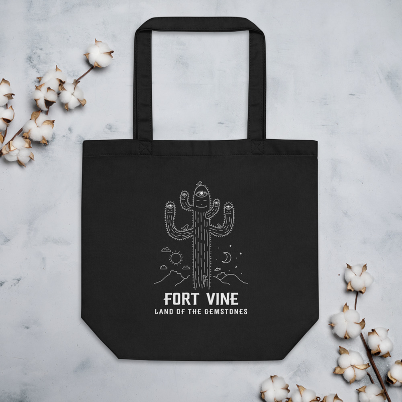 Psychedelic Cactus Tote Bag
