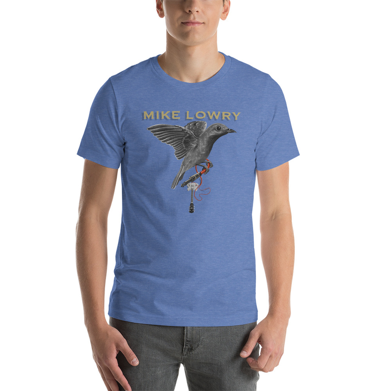 Bird with Guitar - Short-Sleeve Unisex T-Shirt