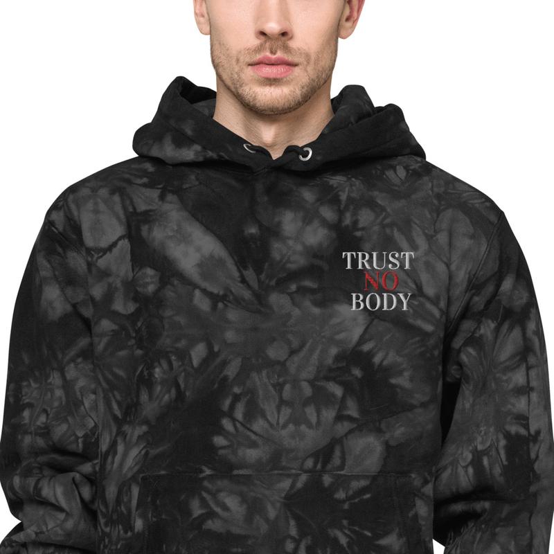 Trust No Body Unisex Champion tie-dye hoodie