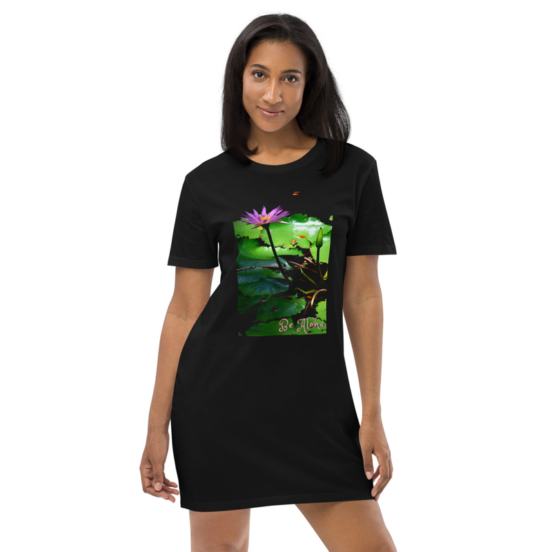 Be Aloha Lotus Organic cotton t-shirt dress