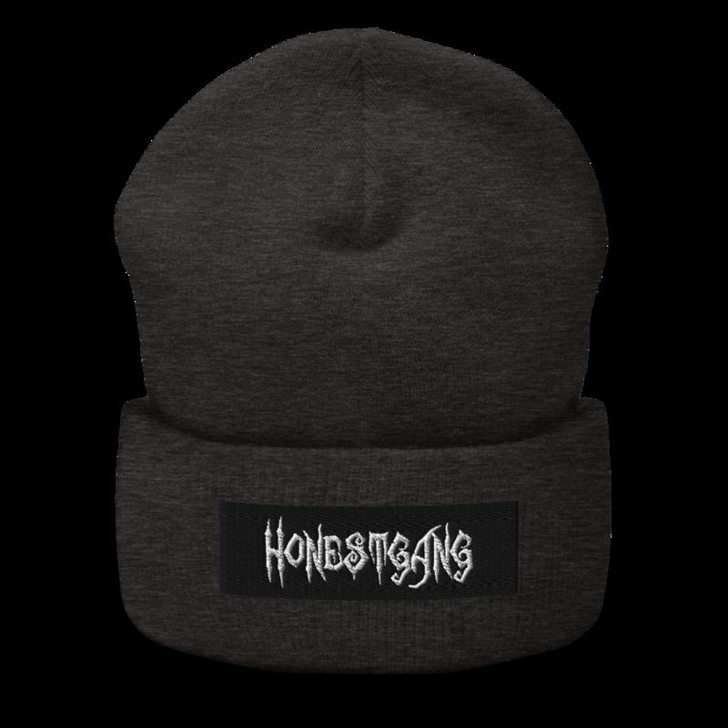 HONESTGANG Embroidered Box Logo Cuffed Beanie