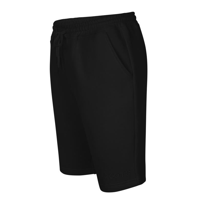 Men's fleece shorts w/ Black Roots Logo