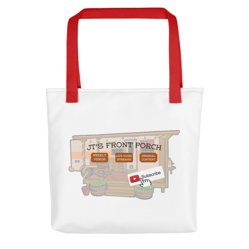 JTs Front Porch YT Subscribe Tote bag