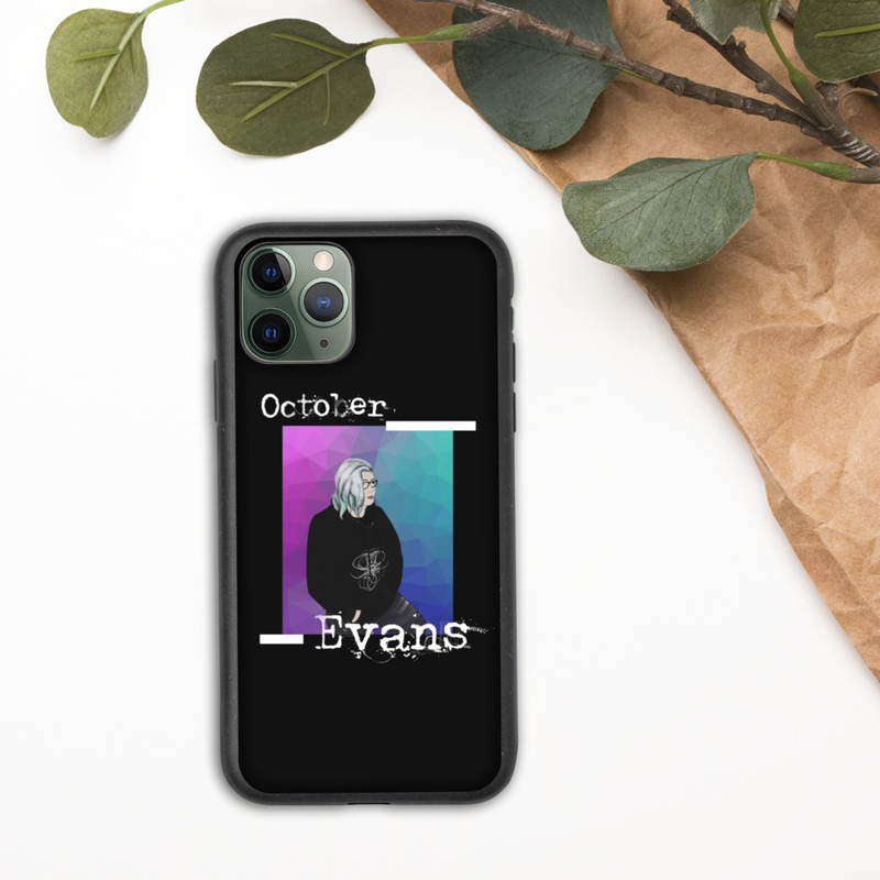 Animated October Evans Biodegradable iPhone Case (for all iPhone models from iPhone 7 to iPhone 12 Pro Max and beyond)