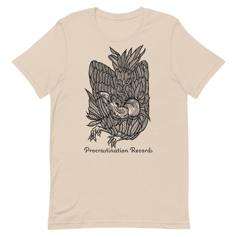 Procrastination Records - Vulture - Black Ink Short-Sleeve Unisex T-Shirt