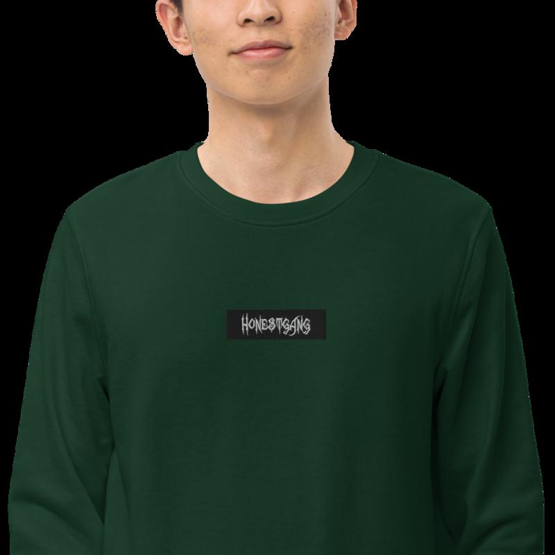 HONESTGANG Embroidered Box Logo Unisex Crew Neck