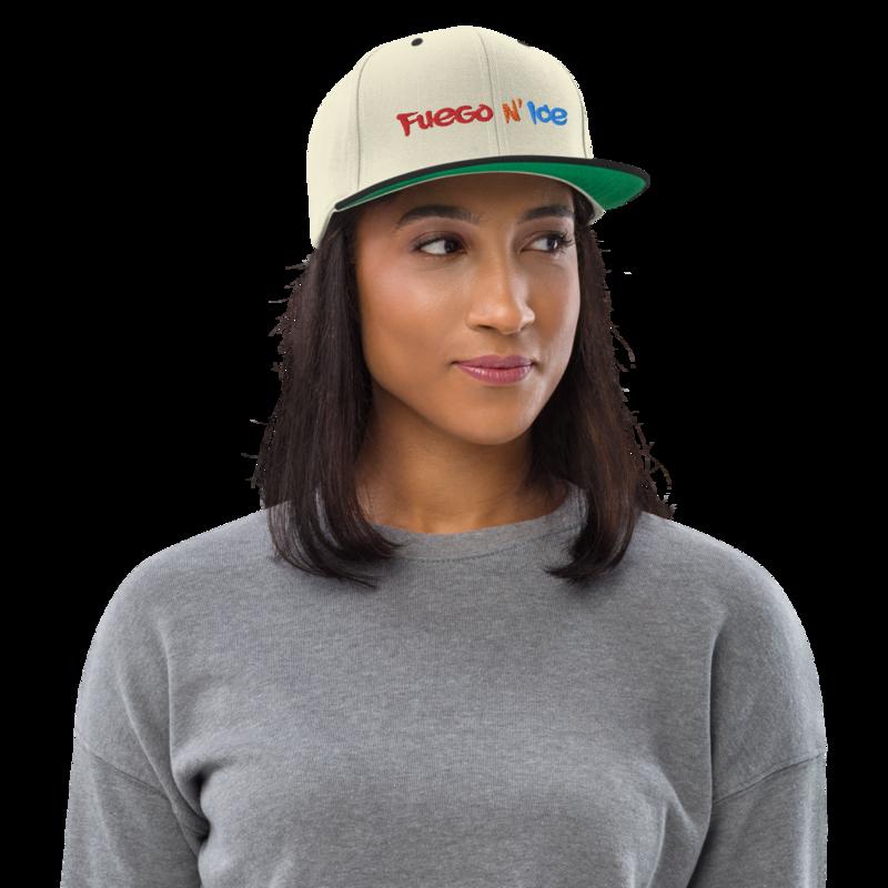 """Fuego N' Ice"" - Adjustable Snapback Hat"