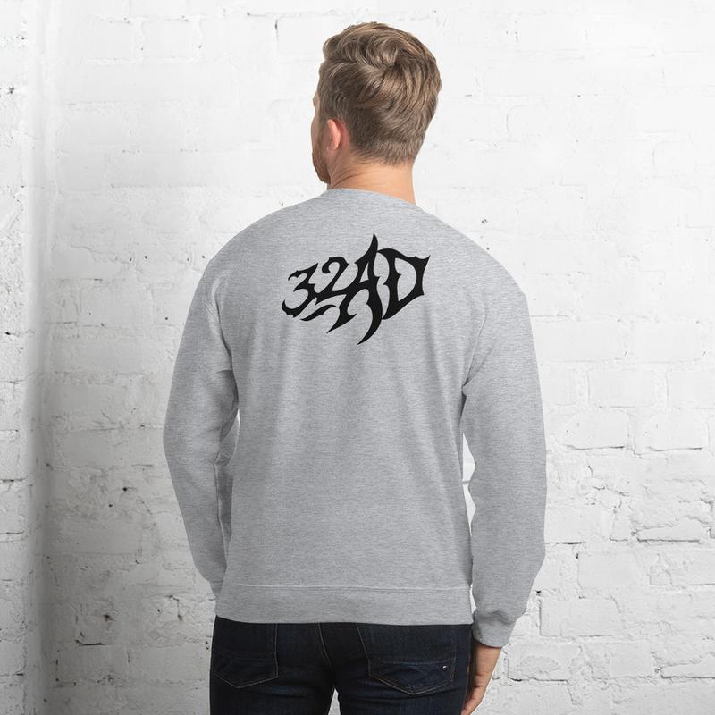 32AD - Unisex Sweatshirt (Logo Backside)