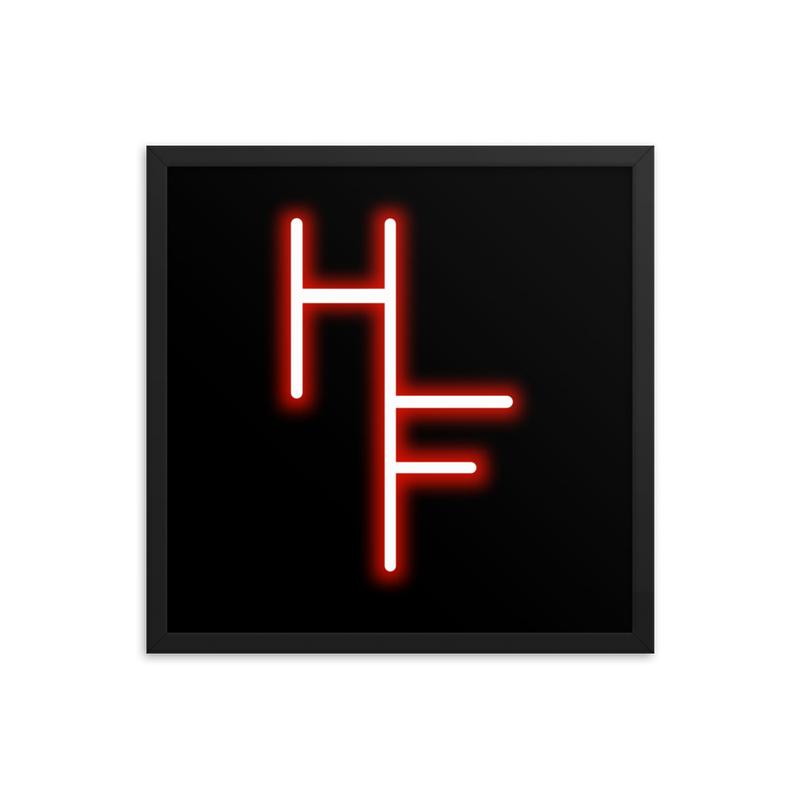 Hi Fidelity Logo Framed Poster