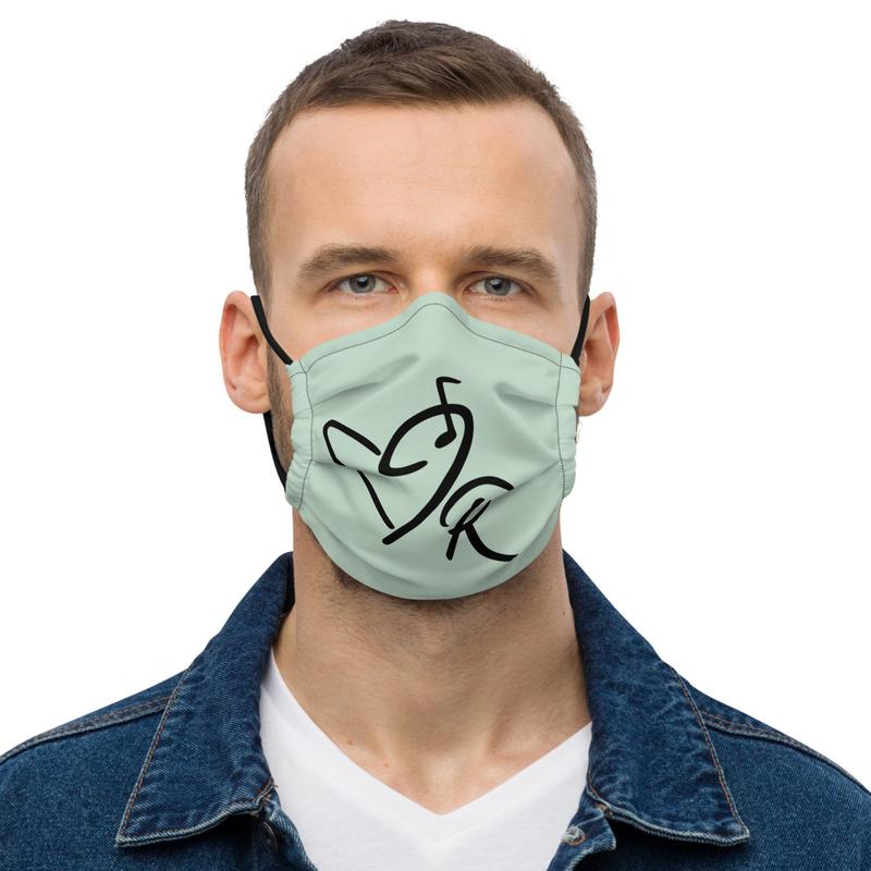 Green Premium Face Mask - JR Logo