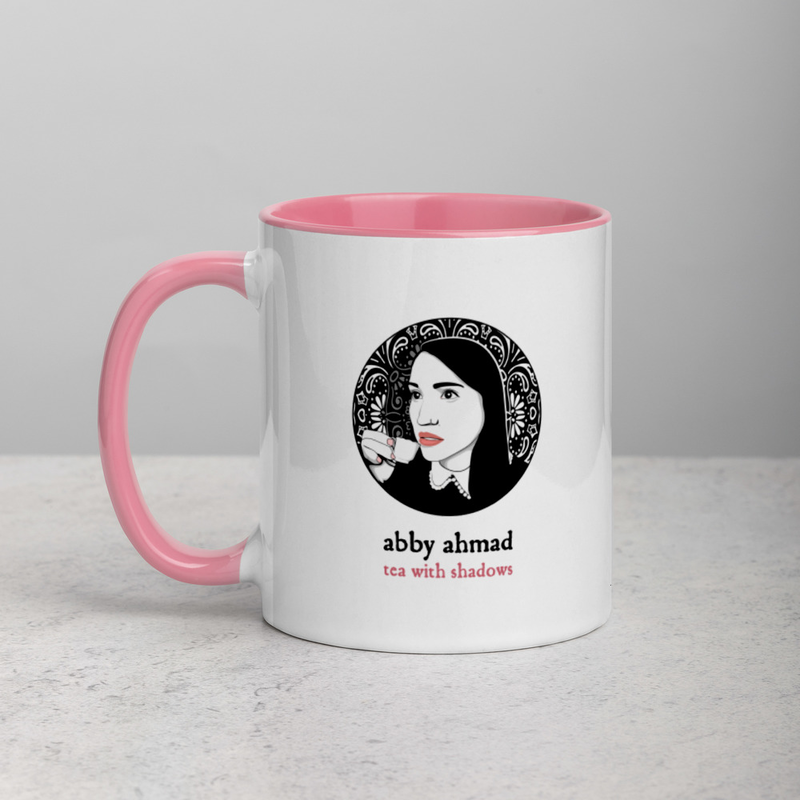 Tea with Shadows Mug (White/Pink)