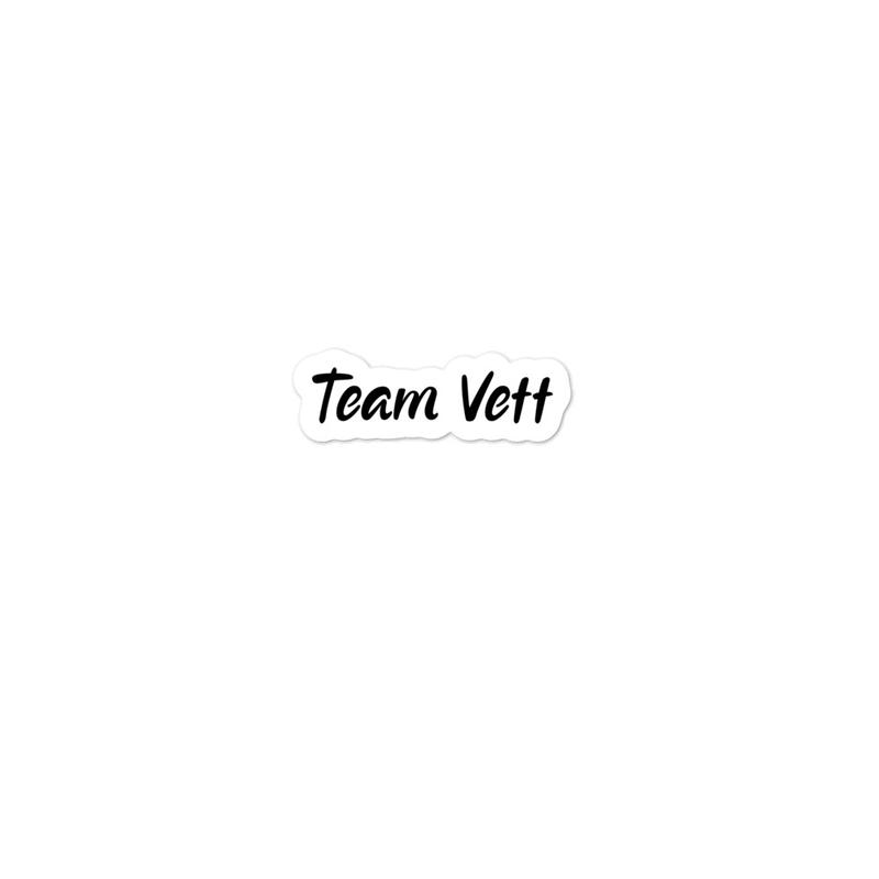 Team Vett Sticker