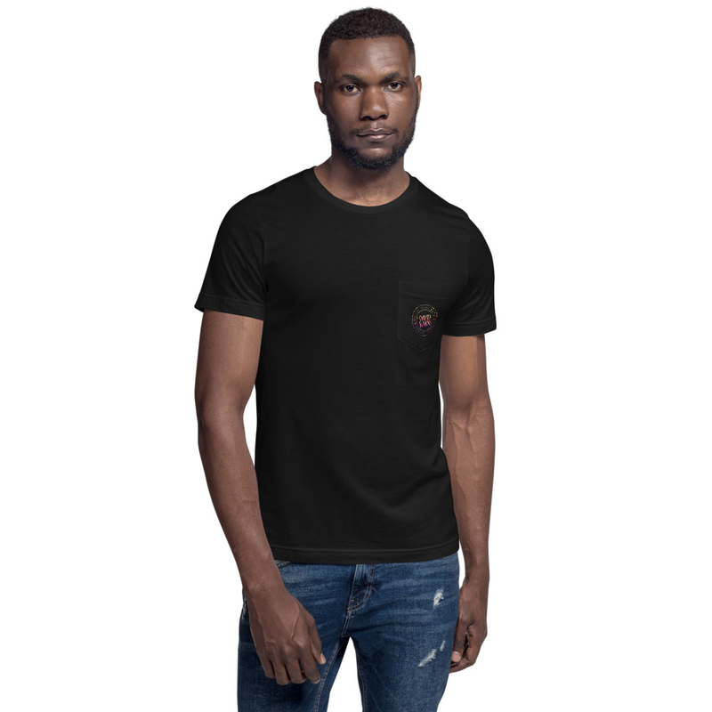 Unisex Pocket T-Shirt - Rainbow Logo