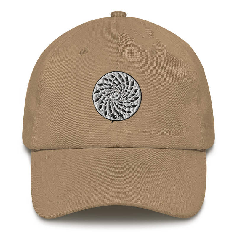 Classic cap with embroidered mosaic
