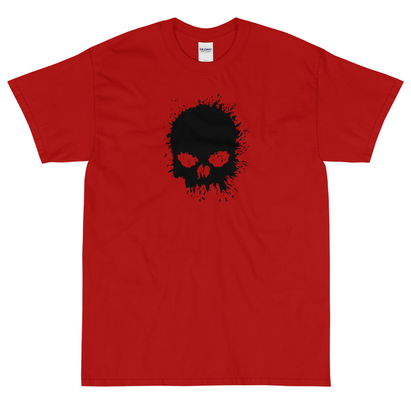Magnavolt Red T-Shirt with Splatter Skull