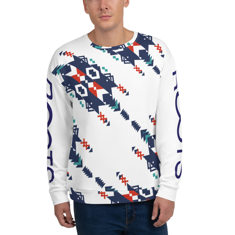 Rooted Patterns Sweatshirt - Navy and Red