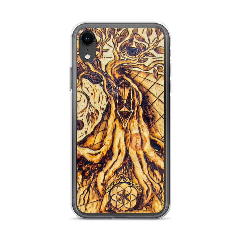 Writing with fire iPhone Case