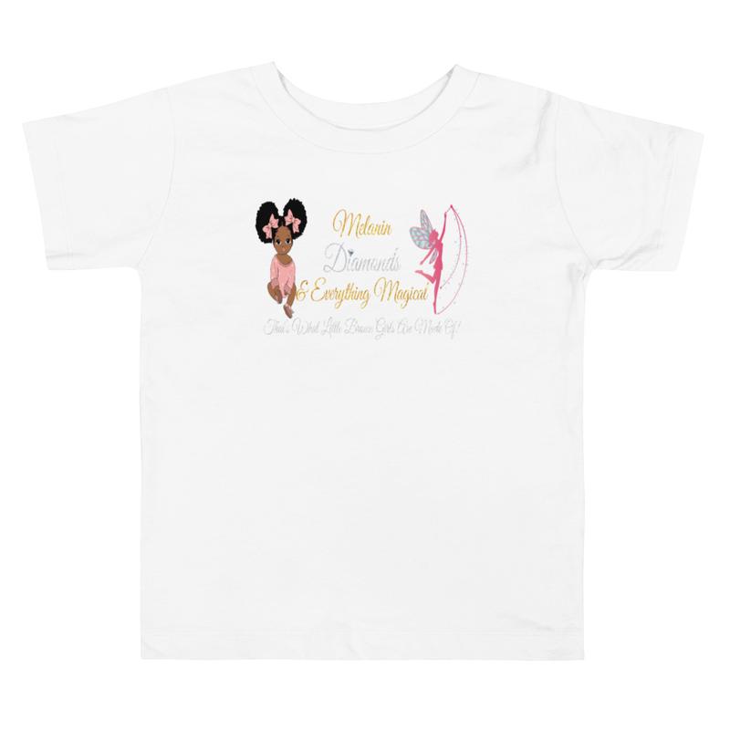 Princess Melanin Affirmation PINK Toddler Short Sleeve Tee