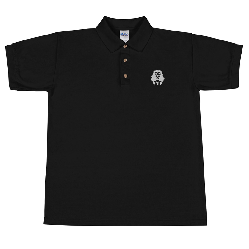 Lion and Lamb Embroidered Polo Shirt