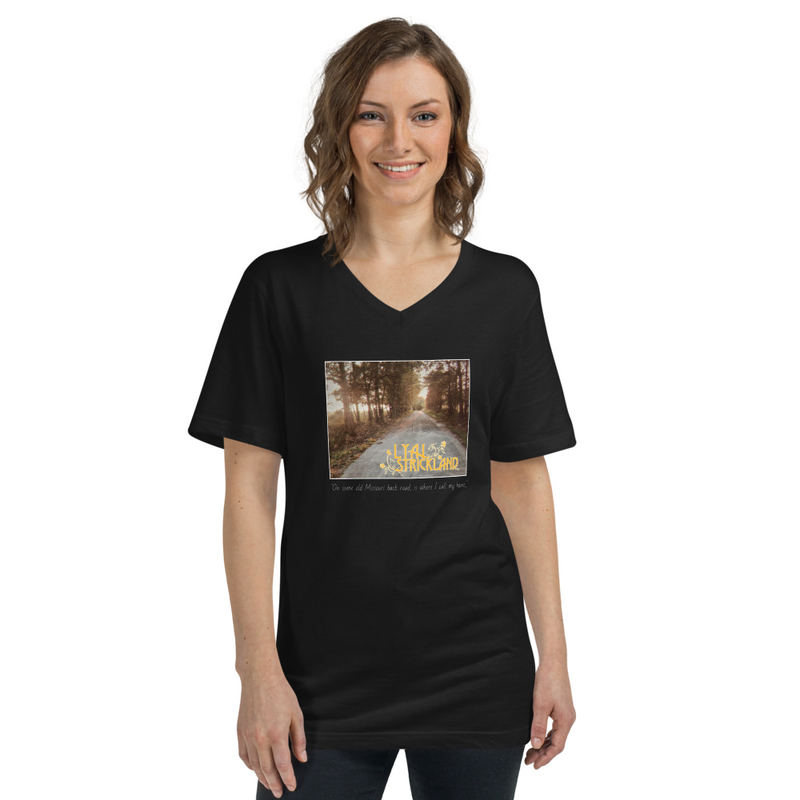 Missouri Back Roads Unisex Short Sleeve V-Neck T-Shirt