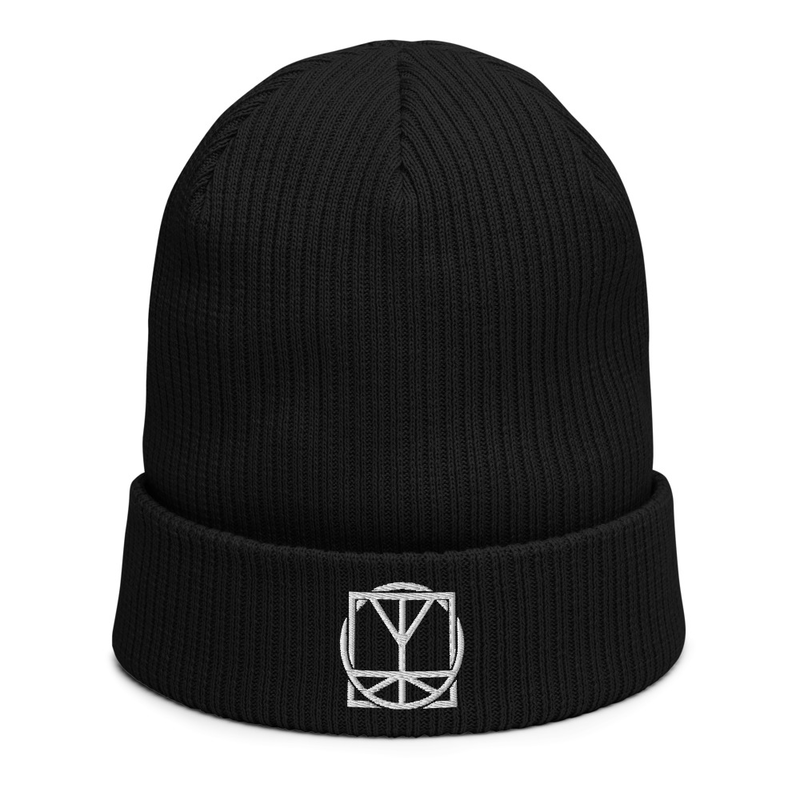 Black Beanie - Embroidered Logo image