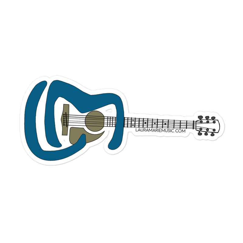 LM Guitar Bubble-free stickers
