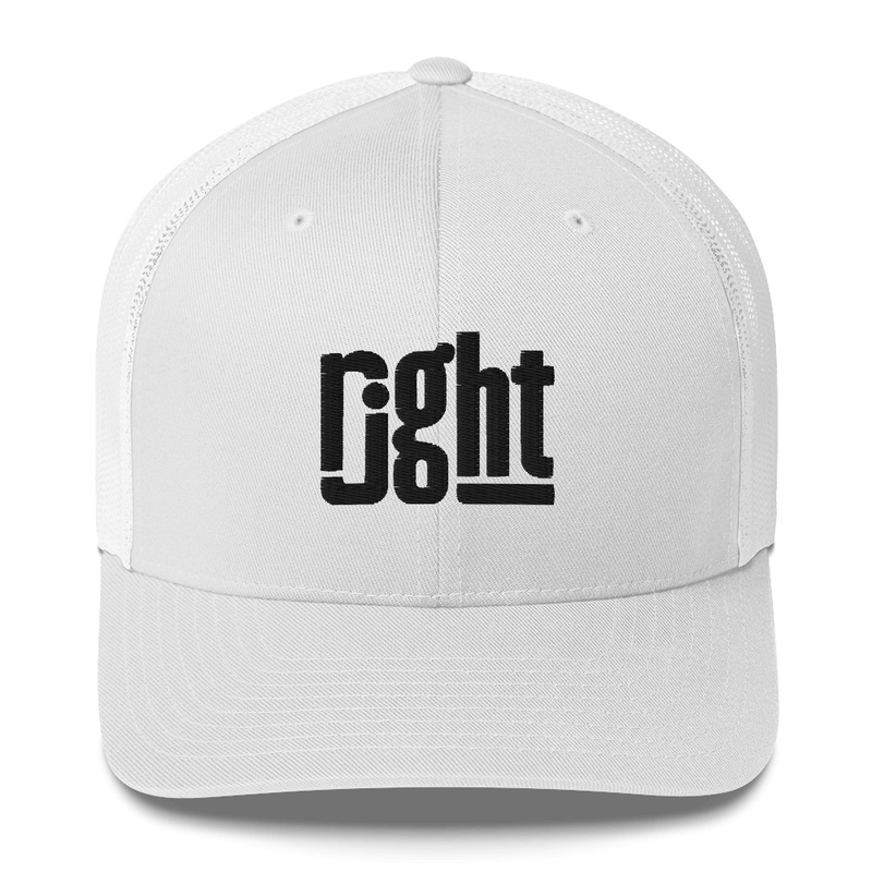 The rjght Trucker Cap - Black Logo