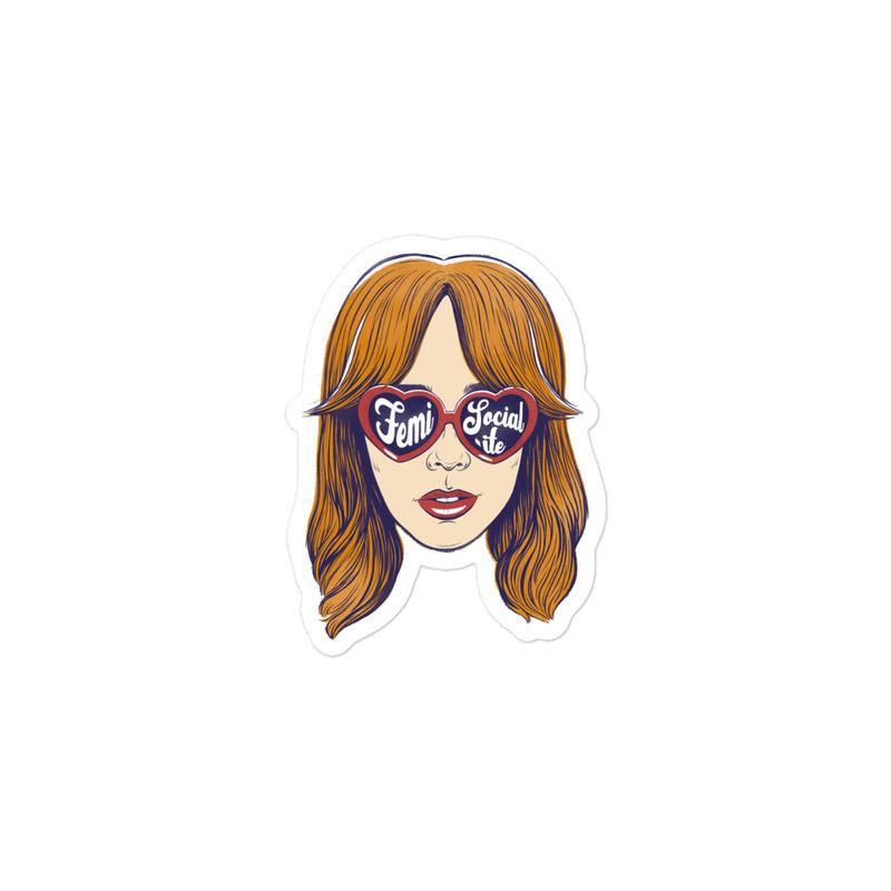 'Femi-Socialite' Bubble-free stickers