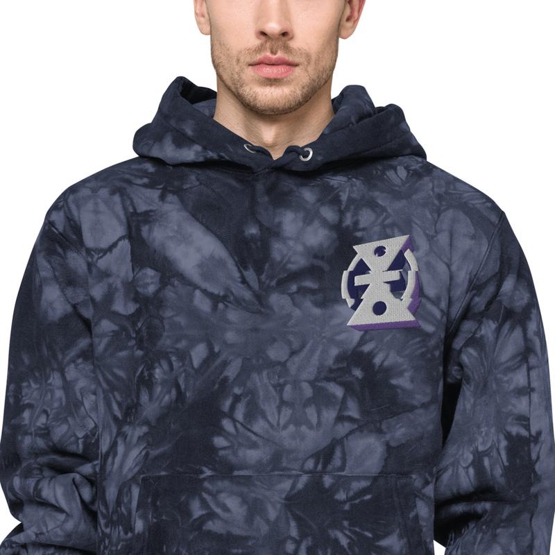 Glitch - Champion tie-dye hoodie