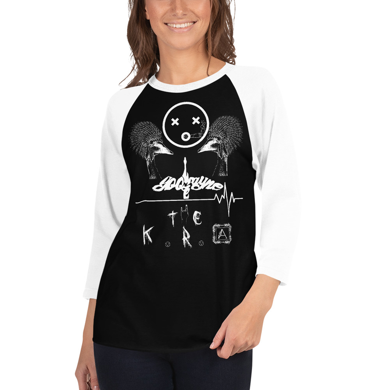 3/4 sleeve raglan shirt- Goose Wayne & The K.R.A