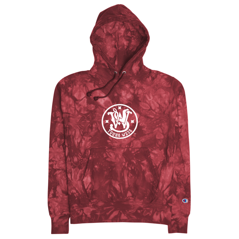 Young Wess Champion tie-dye hoodie (Unisex)