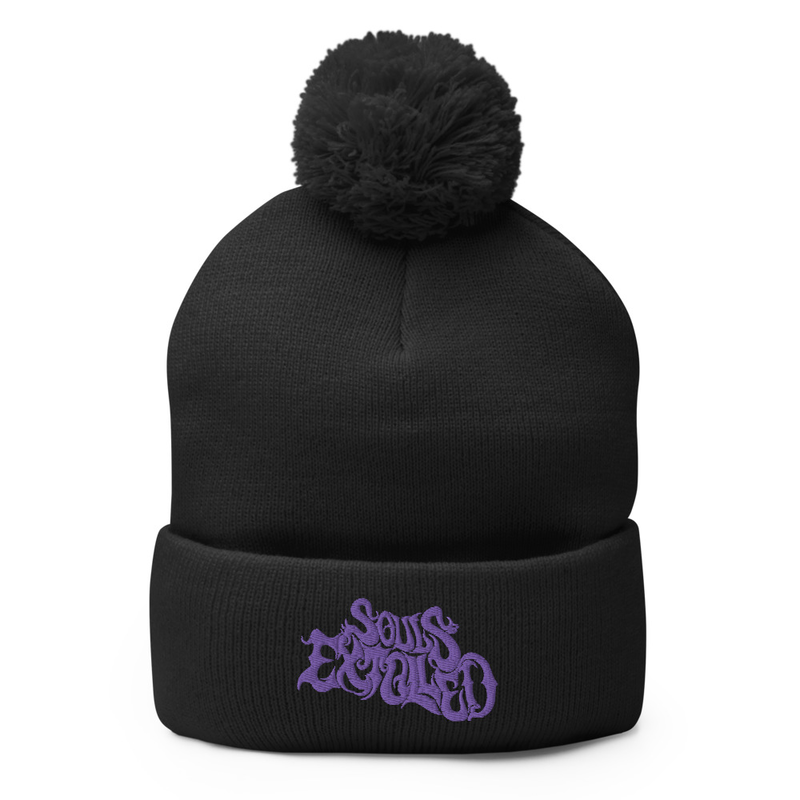 Souls Extolled Beanie - Purple on Black