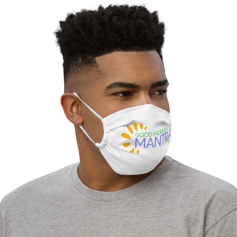 """Good Morning Mantra"" - Premium Washable Face Mask + Pocket For Surgical Mask"