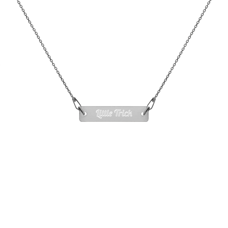"""""""Little Trick"""" - Silver Bar Chain Necklace"""
