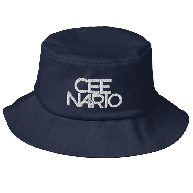 Bucket Hat with White Cee Nario PLAY Logo