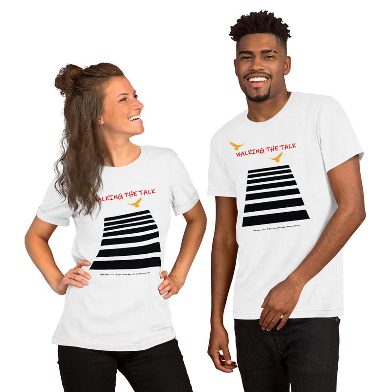 Walking The Talk Short-Sleeve Unisex T-Shirt