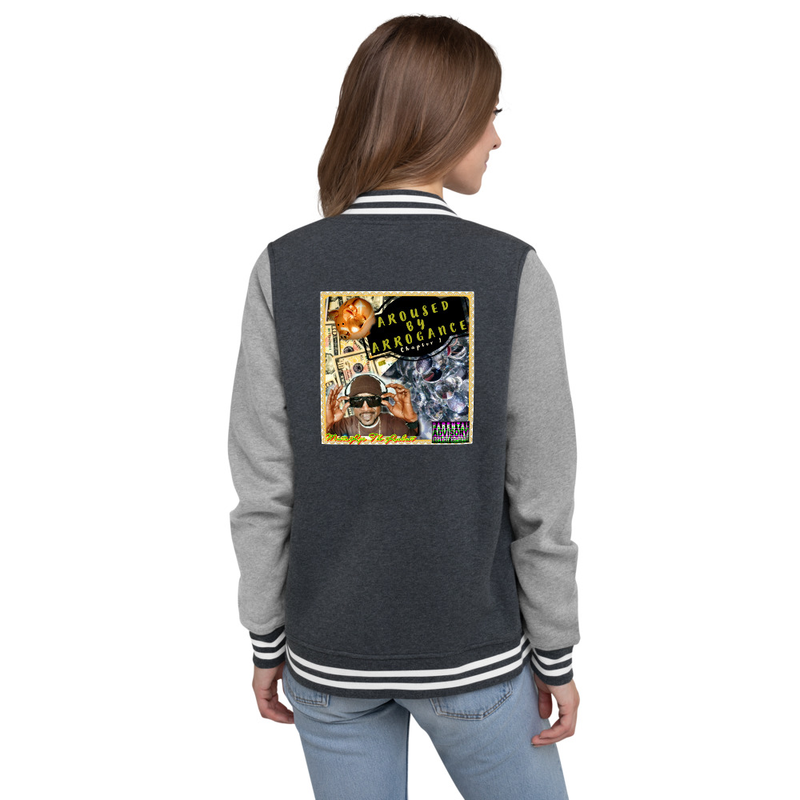 Women's Letterman Jacket - Aroused by Arrogance