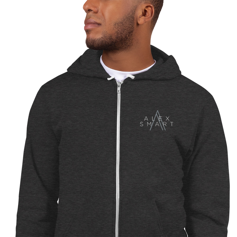 Hoodie sweater - embroidered
