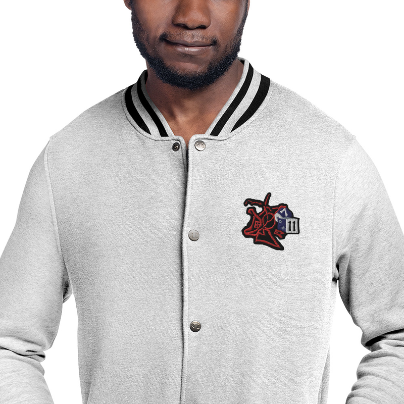 DEF BOY Embroidered Champion Bomber Jacket