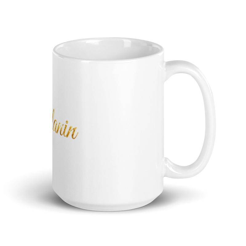 Melanin White Glossy Mug