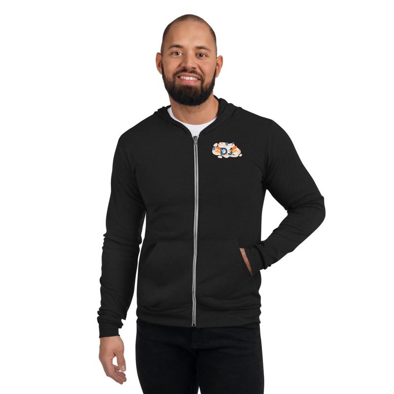 Unisex zip-up hoodie DJ Young