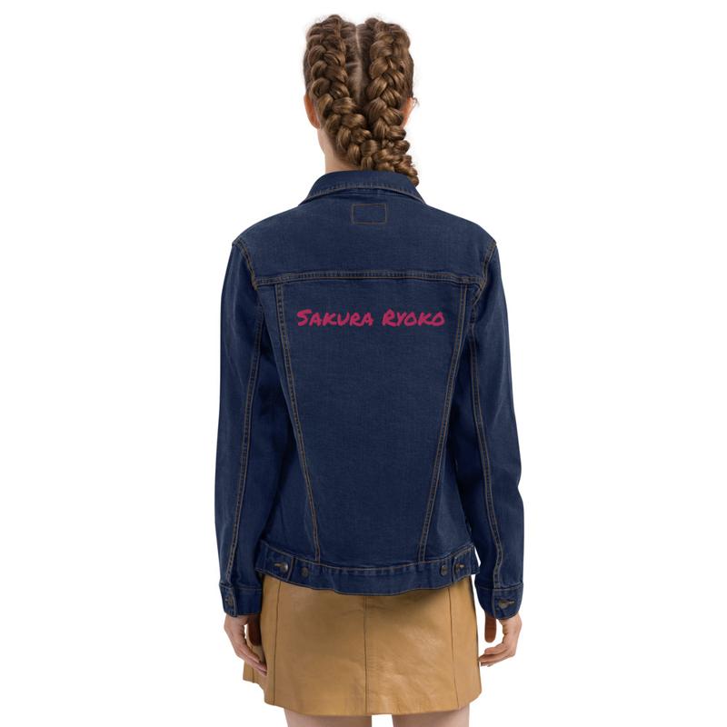 Unisex denim jacket (Sakura Ryoko)